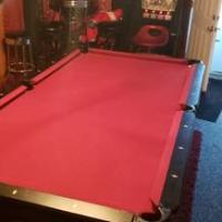 8ft Brunswick Black Pooltable