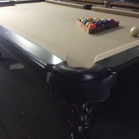 8ft Slate Leather Pockets, High quality Pool Table